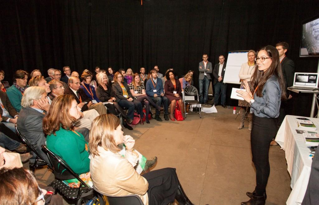 Fringe meeting Crowdfunding in de erfgoedpraktijk, Nationaal Monumentencongres. Foto: van Dale fotografie