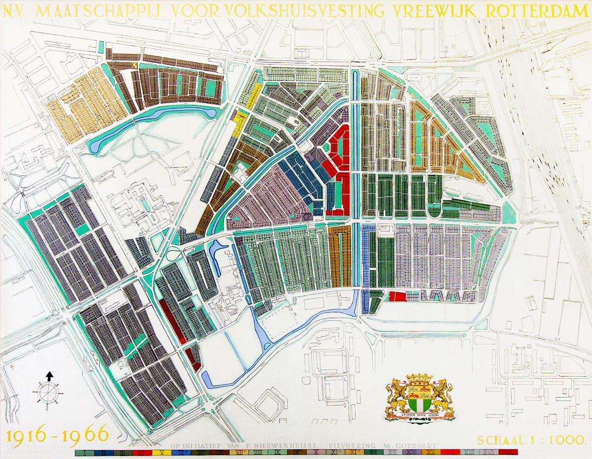 Vreewijk, kaart 1966