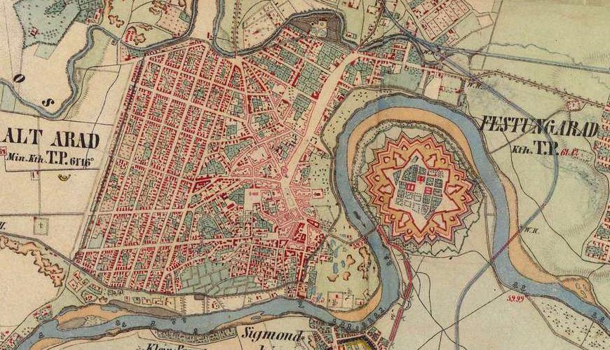 Arad in 1860