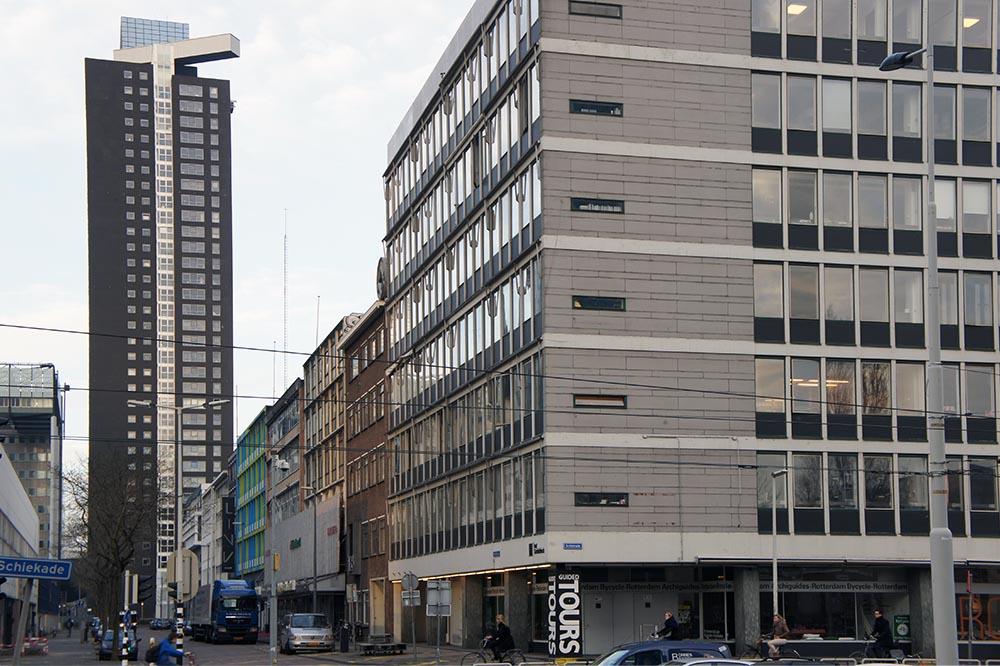 het Schieblock, Rotterdam, dat tot 2010 leeg stond