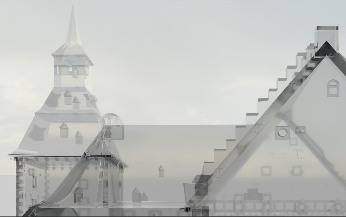 Slot Schaesberg in VR. beeld: Ron van den Ouweland